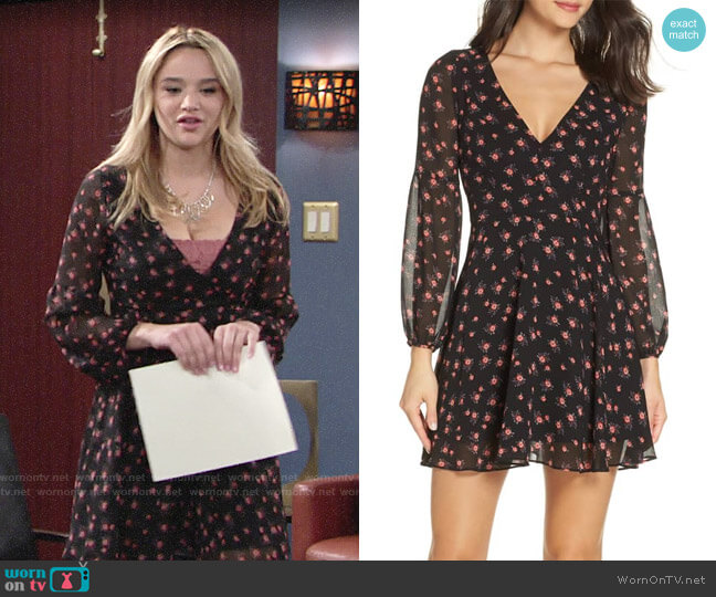 BB Dakota Love in Afternoon Dress worn by Summer Newman (Hunter King) on The Young & the Restless