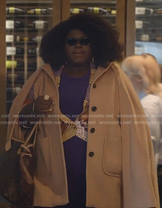 Becky's beige cape coat on Empire