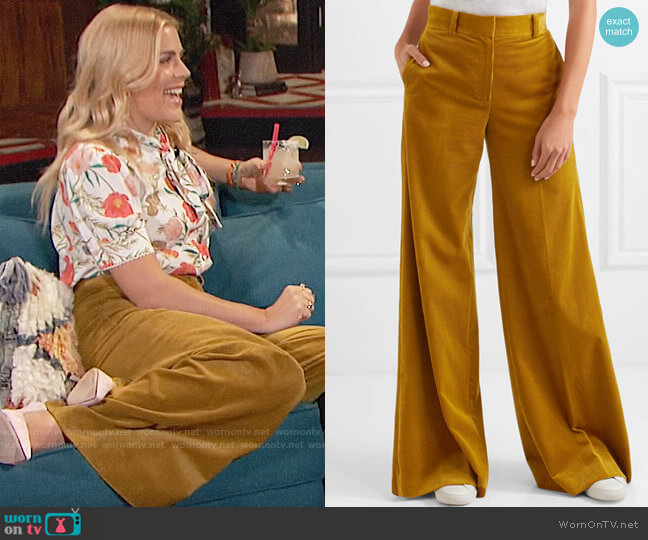 Bella Freud Bianca Pants worn by Busy Philipps  on Busy Tonight