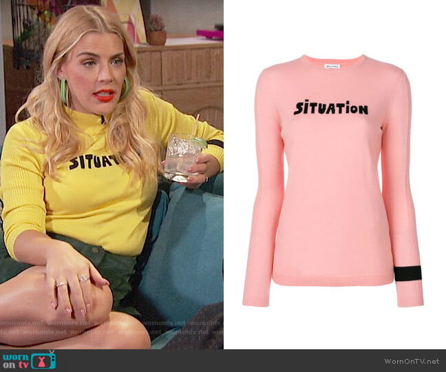 Bella Freud Situation Sweater worn by Busy Philipps  on Busy Tonight