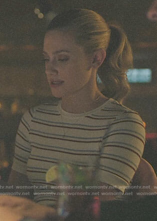 Betty's white striped top on Riverdale