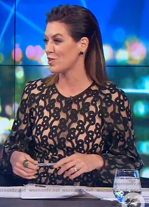 Gorgi's two tone embroidered dress on The Project