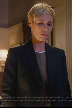 Bonnie's black polka dot blazer on How to Get Away with Murder