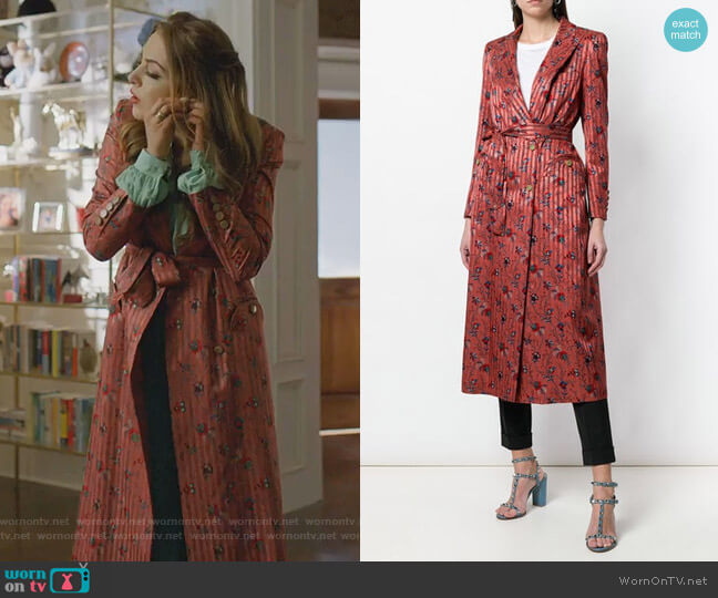 Belted Blazer Dress by Blaze Milano worn by Fallon Carrington (Elizabeth Gillies) on Dynasty