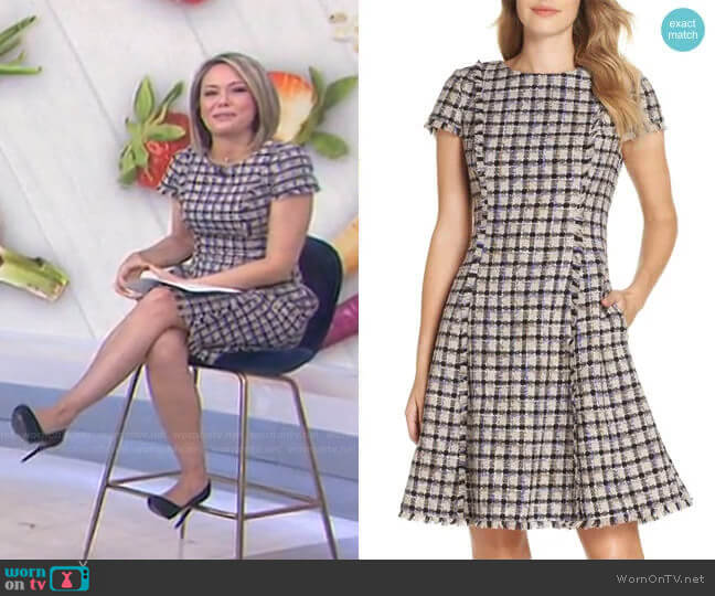 Cap Sleeve Fit & Flare Dress by Eliza J worn by Dylan Dreyer  on Today