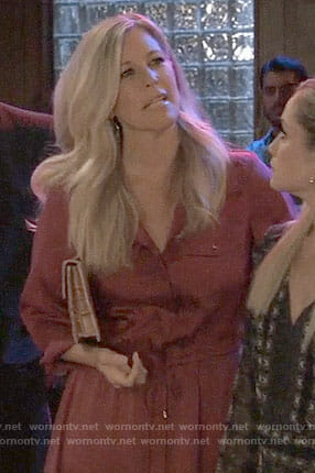 Carly's red shirtdress on General Hospital