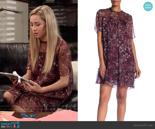 CeCe Floral Mystery Shift Dress worn by Josslyn Jacks (Eden McCoy) on General Hospital