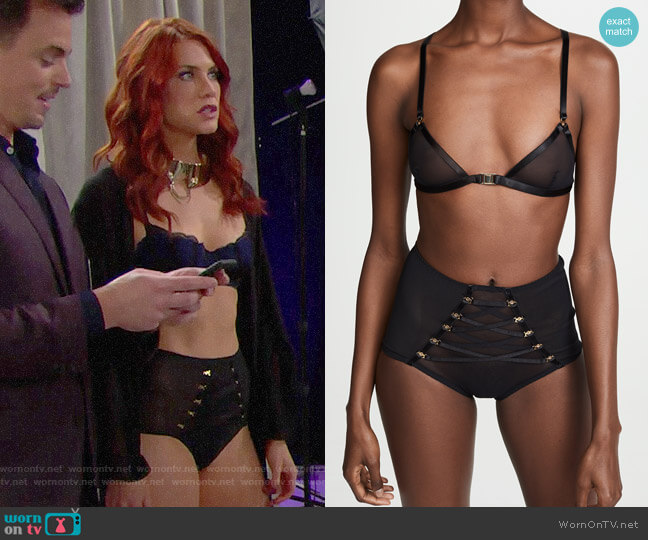 Coco de Mer Medusa Panties worn by Sally Spectra (Courtney Hope) on The Bold & the Beautiful