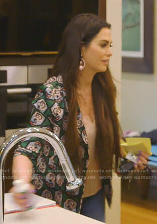 D'Andra's green floral jacket on The Real Housewives of Dallas