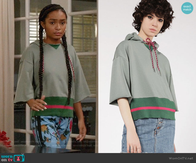 Diesel Cotton Sweatshirt worn by Zoey Johnson (Yara Shahidi) on Blackish
