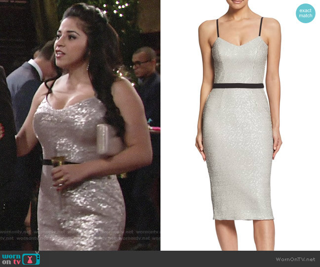 Dress the Population Emma Dress worn by Mia Rosales (Noemi Gonzalez) on The Young & the Restless