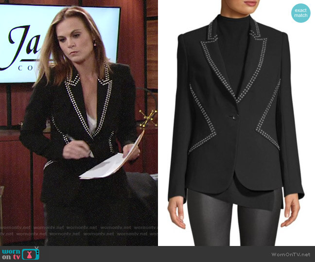 Phyllis's studded blazer on The Young and the Restless