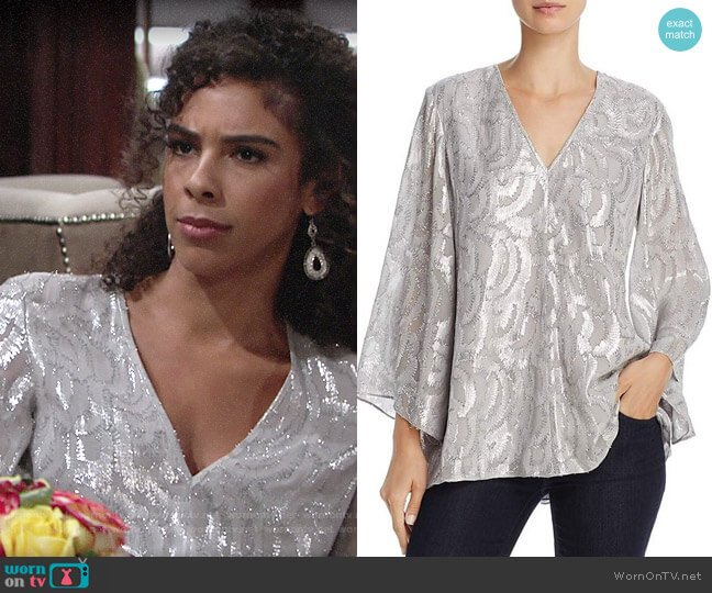 Elizabeth and James Ariel Top worn by Kerry Johnson (Alice Hunter) on The Young & the Restless
