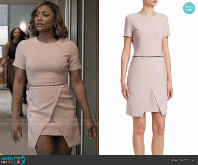 Emporio Armani Tailored Studded Dress worn by Daisy Grant (Patina Miller) on Madam Secretary