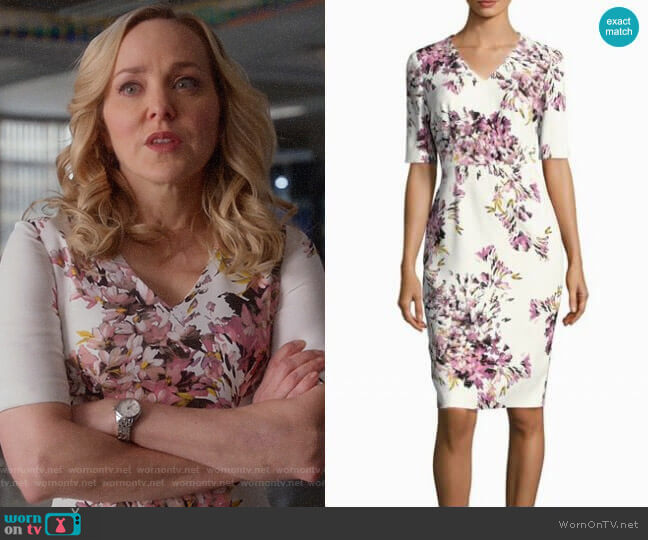 Escada Dnila Dress worn by Marissa Morgan (Geneva Carr) on Bull