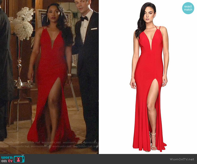 Faviana Red 7929 Gown worn by Iris West (Candice Patton) on The Flash