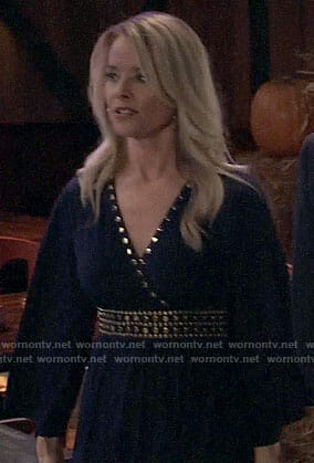 Felicia's black studded dress on General Hospital