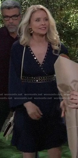 Felicia's navy studded dress on General Hospital