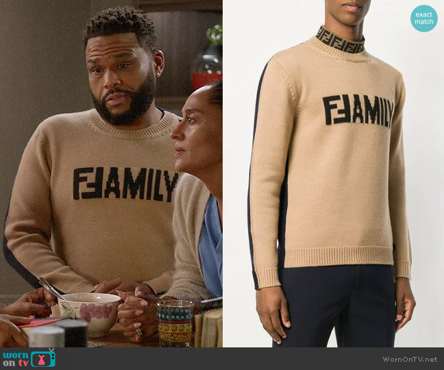 Fendi Family Sweater worn by Andre Johnson (Anthony Anderson) on Blackish