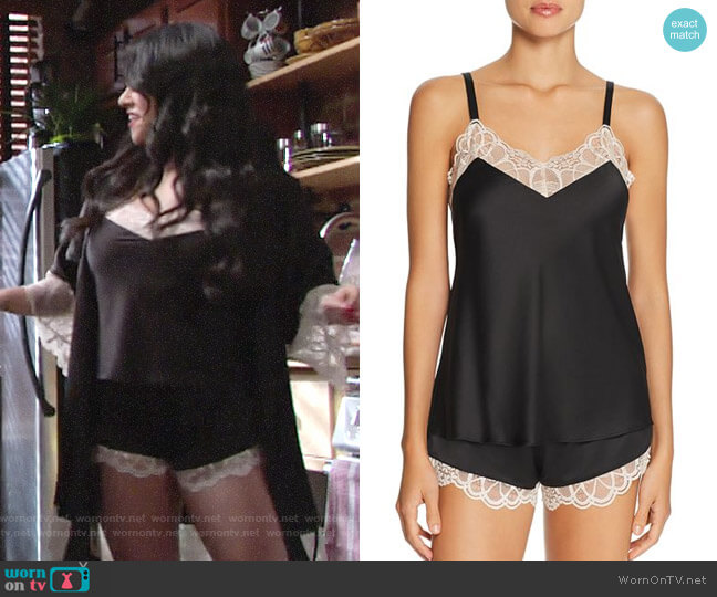 Flora Nikrooz Gabby Cami Tap Set worn by Mia Rosales (Noemi Gonzalez) on The Young & the Restless