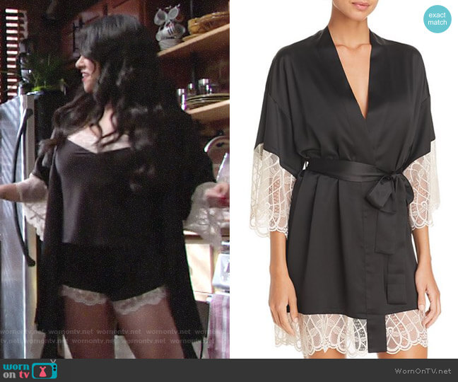 Flora Nikrooz Gabby Kimono Robe worn by Mia Rosales (Noemi Gonzalez) on The Young & the Restless