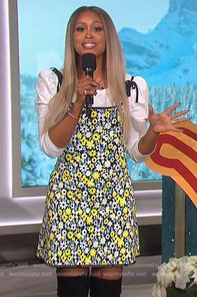 Eve's floral mini dress on The Talk
