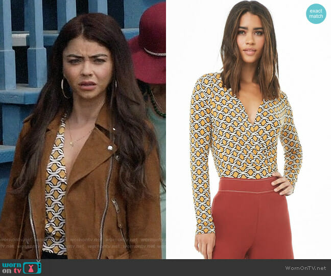 Forever 21 Abstract Print Surplice Top worn by Haley Dunphy (Sarah Hyland) on Modern Family