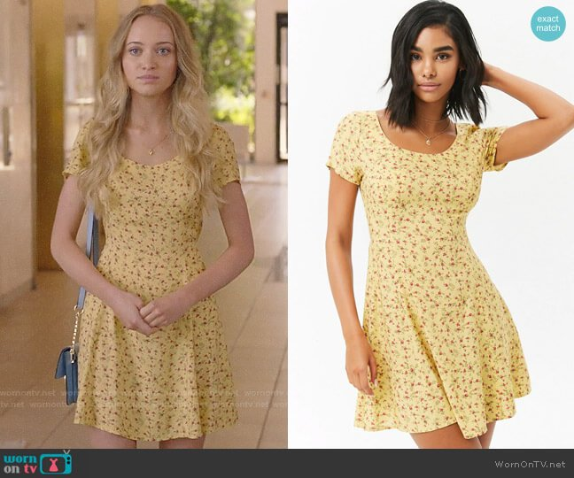 Forever 21 Rose Print Mini Dress worn by Samantha Cole (Belle Shouse) on Queen America