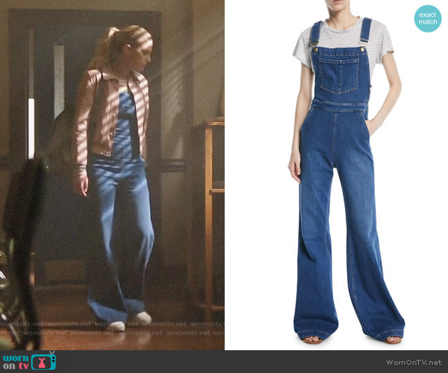 Frame Wide Leg Denim Overalls worn by Betty Cooper (Lili Reinhart) on Riverdale