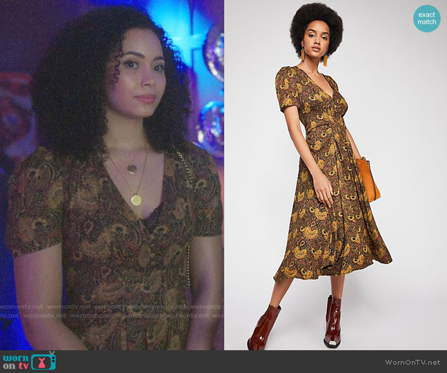 Free People Olivia Dress worn by Macy Vaughn (Madeleine Mantock) on Charmed