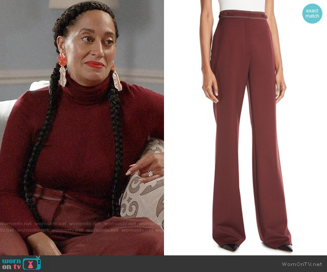 Gabriela Hearst Vesta Pants worn by Rainbow Johnson (Tracee Ellis Ross) on Blackish