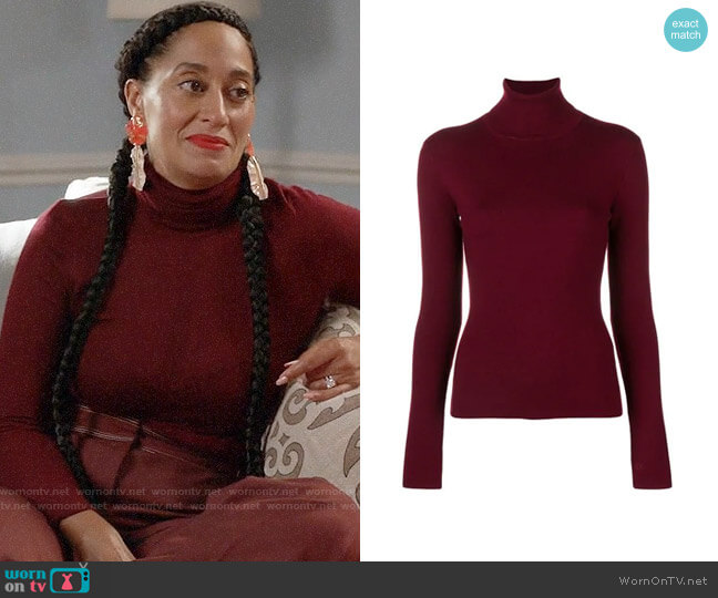 Gabriela Hearst May Sweater worn by Rainbow Johnson (Tracee Ellis Ross) on Blackish