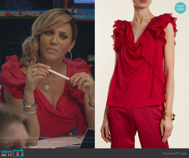 Ruffle-Trimmed Jersey Top by Givenchy worn by Giselle (Nicole Ari Parker) on Empire