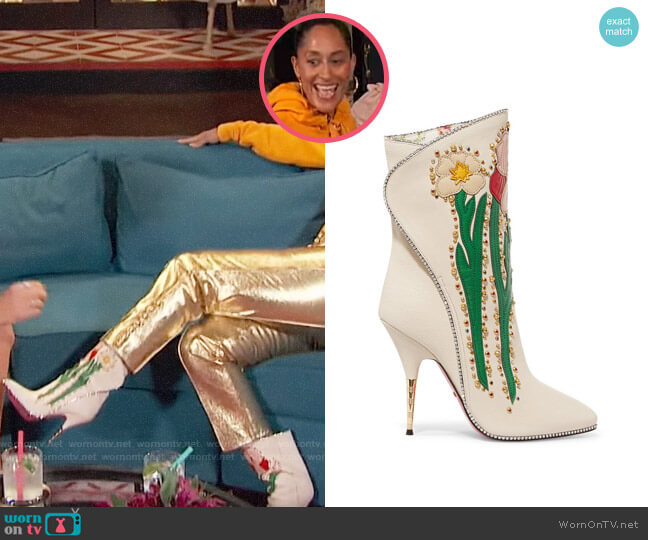 Gucci Fosca Boots worn by Tracee Ellis Ross on Busy Tonight