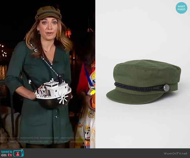 Captain's Cap by H&M worn by Ginger Zee  on Good Morning America