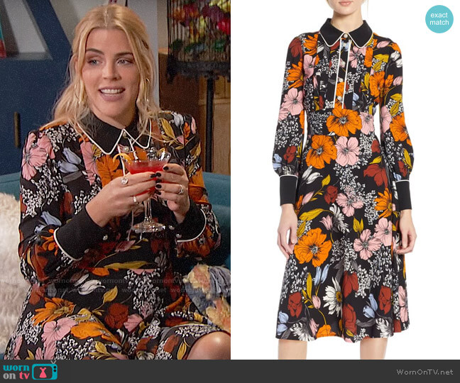Halogen x Atlantic-Pacific Floral Print A-Line Dress worn by Busy Philipps (Busy Philipps) on Busy Tonight