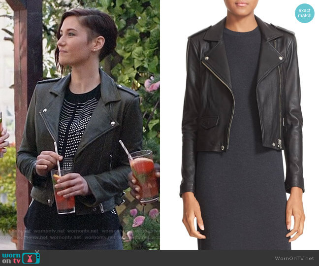 IRO Ashville Jacket worn by Alex Danvers (Chyler Leigh) on Supergirl