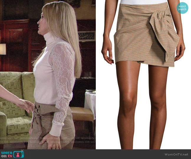 Etoile Isabel Marant Ninon Skirt  worn by Sharon Collins (Sharon Case) on The Young & the Restless