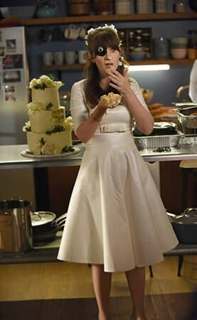 Jess's wedding dress on New Girl