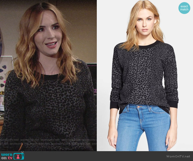 Joie Nigella Leopard Sweater worn by Mariah Copeland (Camryn Grimes) on The Young & the Restless