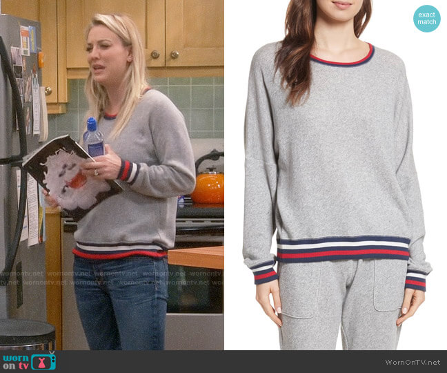 Joie Richardine B Sweatshirt worn by Penny Hofstadter (Kaley Cuoco) on The Big Bang Theory