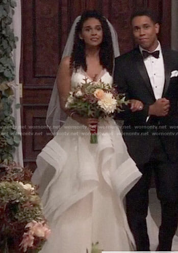 Jordan's wedding dress on General Hospital