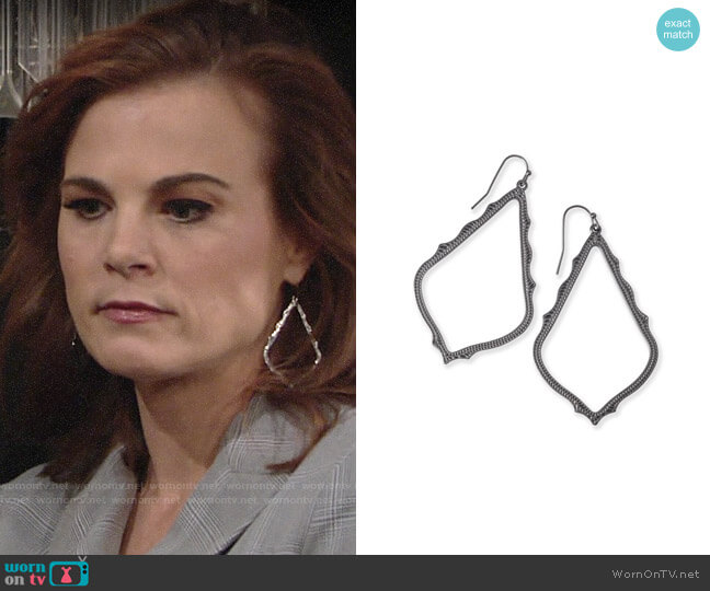 Kendra Scott Sophee Earrings worn by Phyllis Newman (Gina Tognoni) on The Young & the Restless