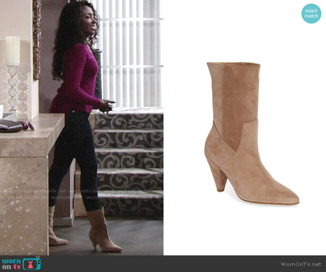 Kenneth Cole Labella Bootie worn by Ana Hamilton (Loren Lott) on The Young & the Restless