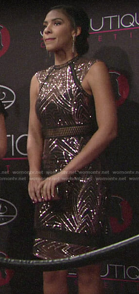 Kerry's embellished dress on The Young and the Restless