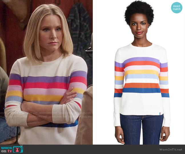 Kule Day Trip Sweater worn by Eleanor Shellstrop (Kristen Bell) on The Good Place
