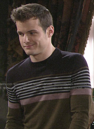 Kyle's striped sweater on The Young and the Restless