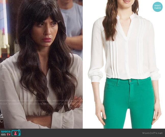 L'Agence Amalea Blouse worn by Tahani Al-Jamil (Jameela Jamil) on The Good Place