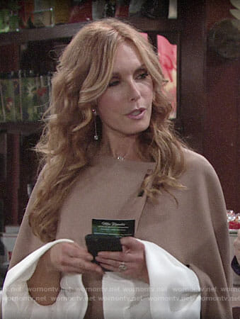 Lauren's camel cape on The Young and the Restless