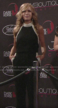 Lauren's pearl embellished jumpsuit on The Young and the Restless